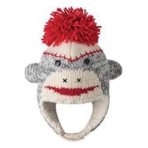 Knitwits Infant (3months+) cute sock monkey hat